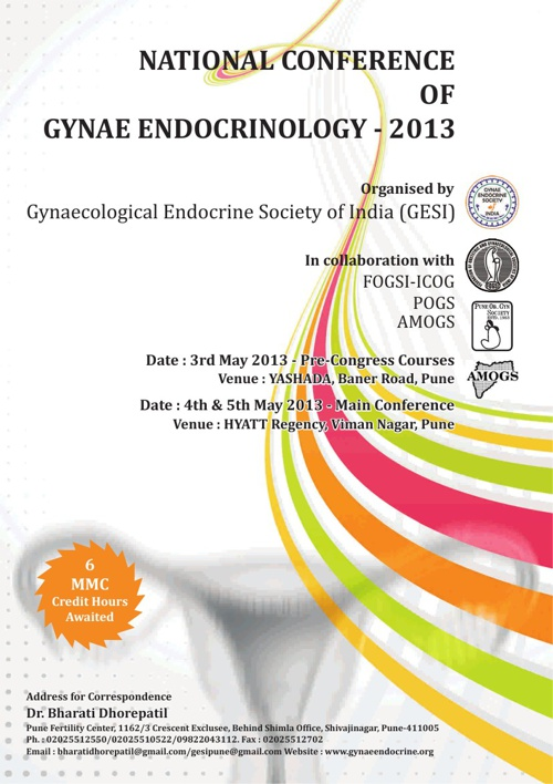 National Conference of GYNAE ENDOCRINOLOGY - 2013