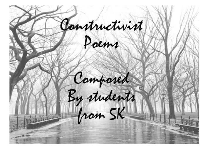 Yr 5 Constructivist Poems