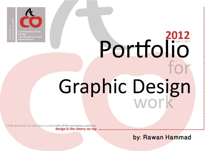 Portfolio for Graphic Design Work by Rawan Hammad