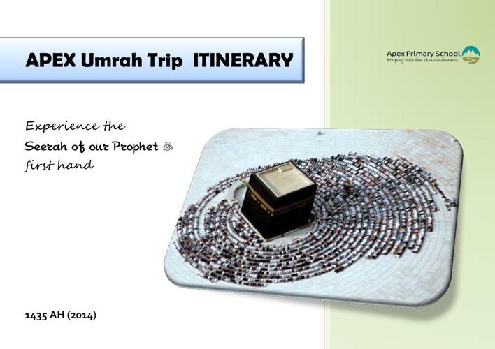 APEX Umrah Itinerary