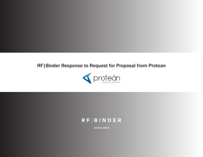 RF|Binder Response to Request for Proposal from Protean