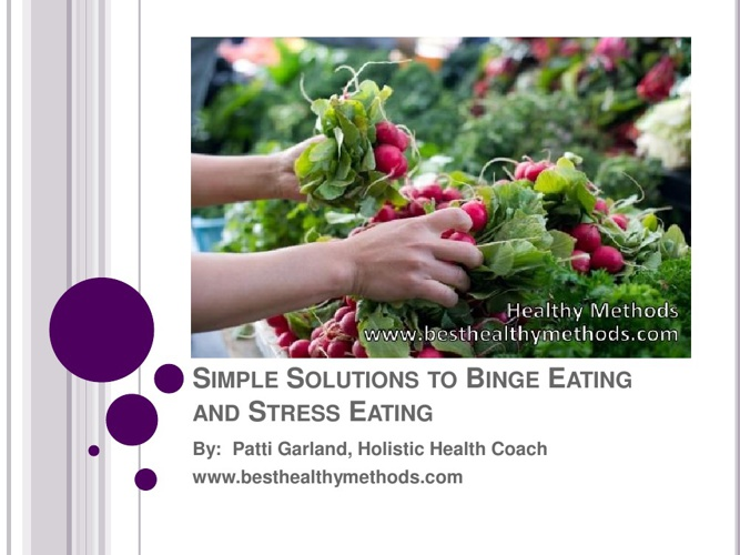 Simple Solutions To Stress Eating