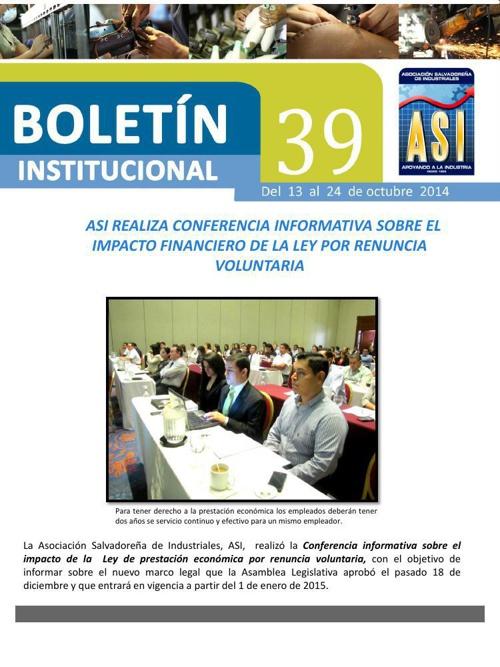 Boletín 39 de ASI