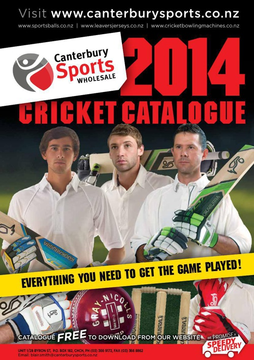Canterbury Sports 2014 Cricket Catalogue