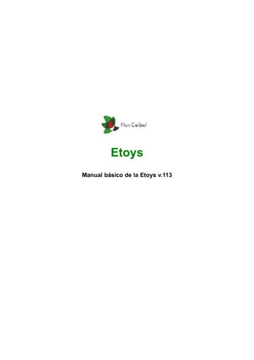 Manual básico para el uso de Etoys