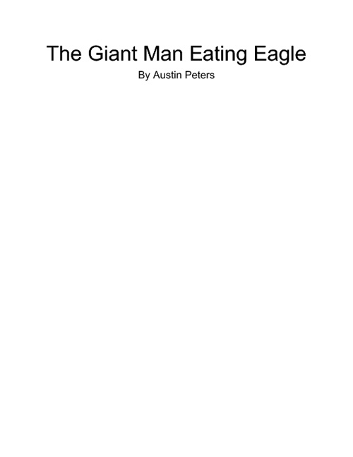 The giant man eating eagle