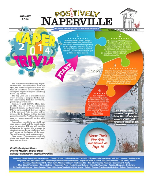 Positively Naperville January 2014 Vol. 13 No. 5