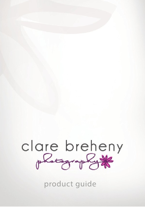 Clare Breheny Photography Product Guide (UK October 2014)