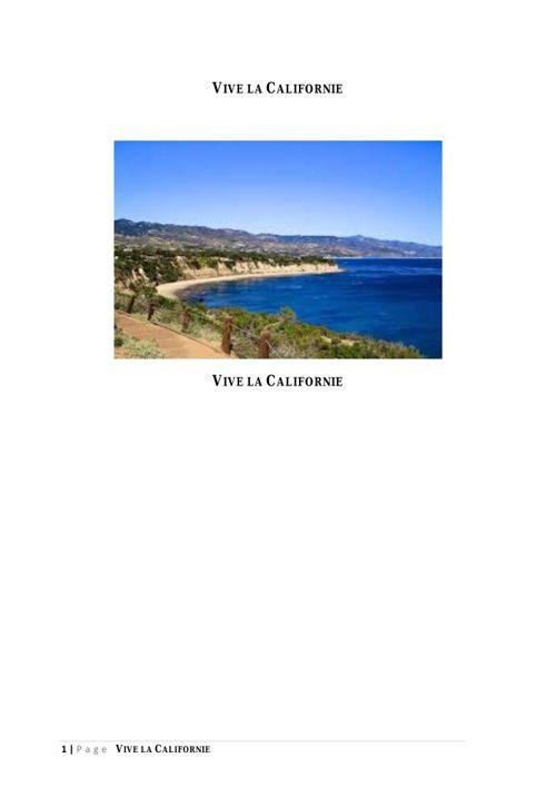 VIVE LA CALIFORNIE