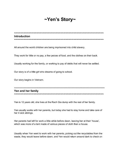 Yen's Story