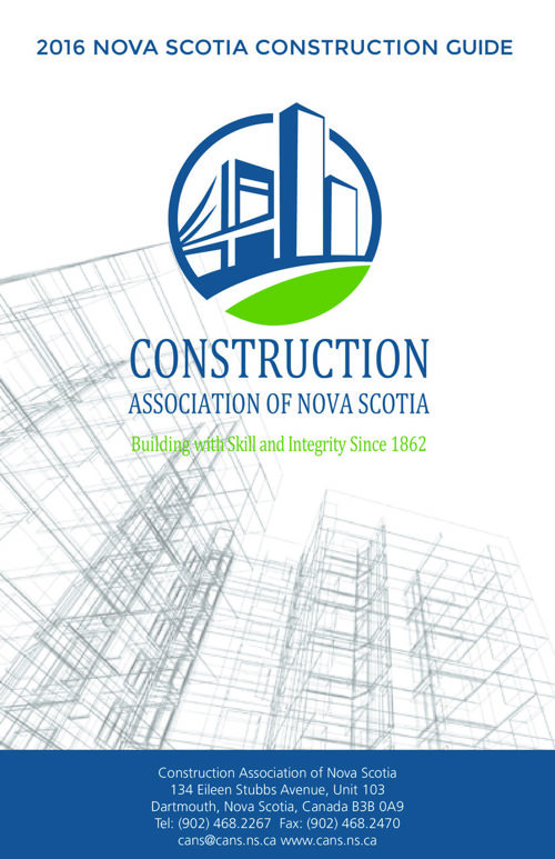 2016 Nova Scotia Construction Guide