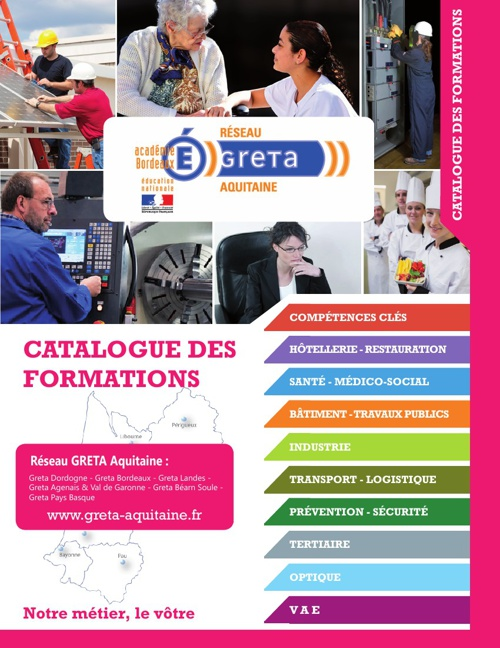 Copy of Catalogue des formations GRETA 2013