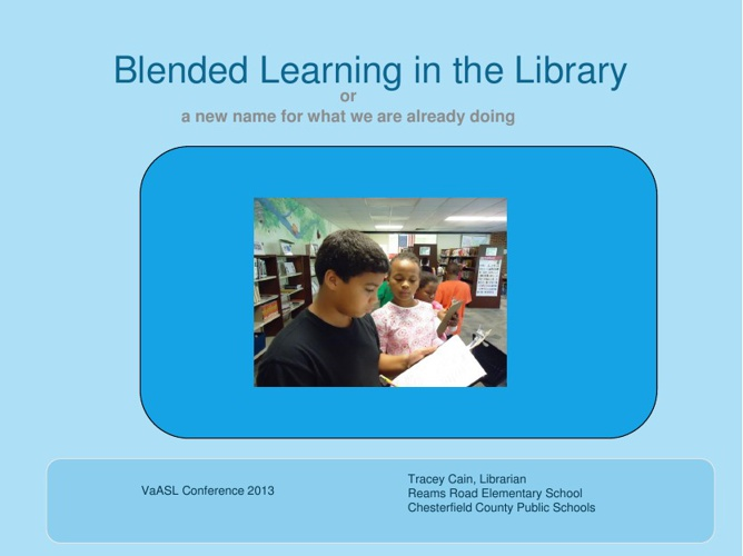 Blelnded Learning in the Library