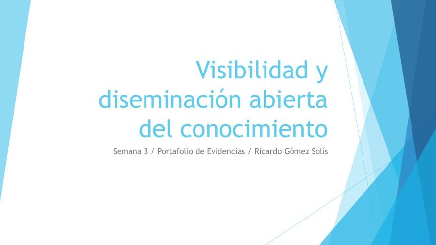 DISEMINACIÓN DE RECURSOS EDUCATIVOS ABIERTOS