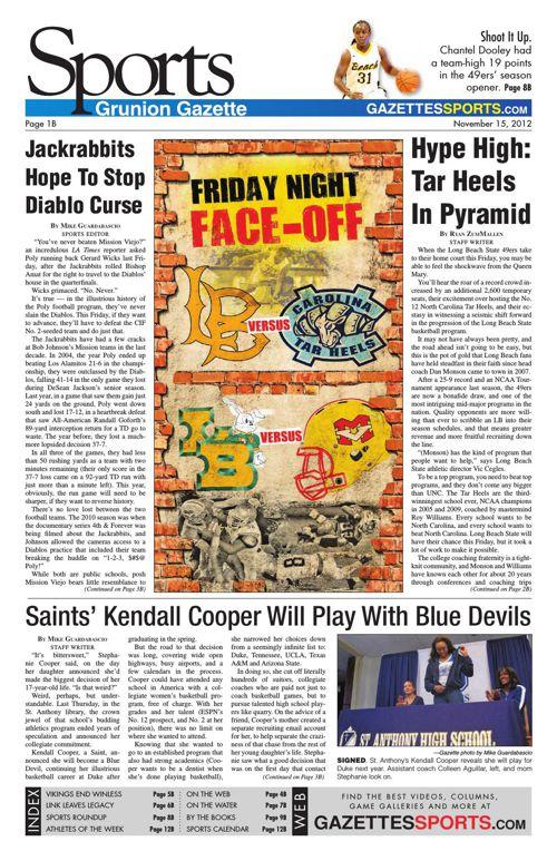Gazette Sports   November 15, 2012