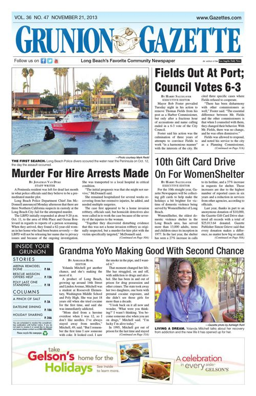 Grunion Gazette   November 21, 2013