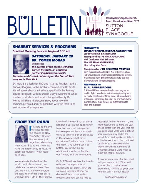 January/February/March 2017  Bulletin