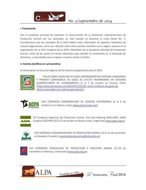 Carta Aérea_ALPA_No 3 septiembre de 2014