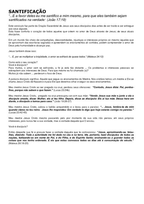 Copy of SANTIFICAÇÃO