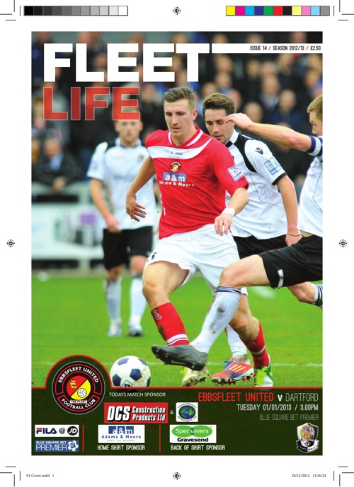 Match Day Programme - Ebbsfleet Utd vs Dartford 1st Jan 2013