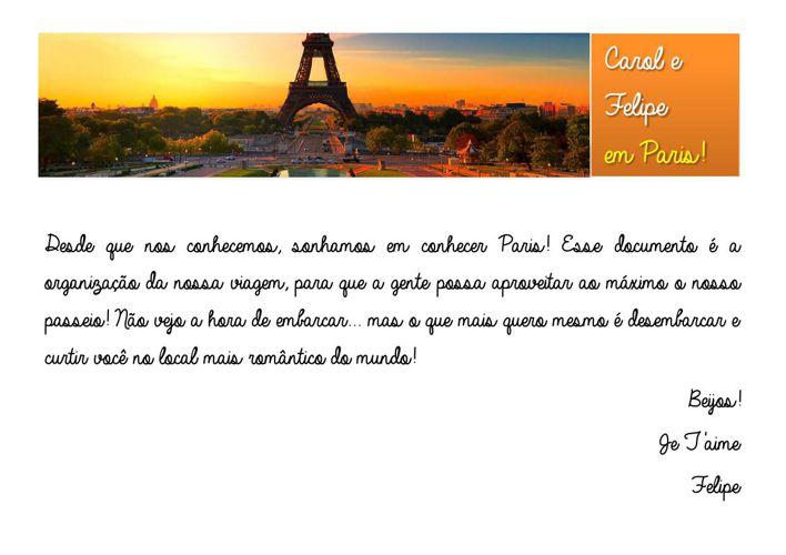 Guia de Paris - Carol e Felipe