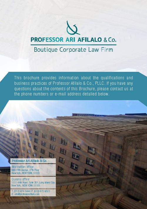 Professor Afilalo & Co. - Boutique Corporate Law Firm