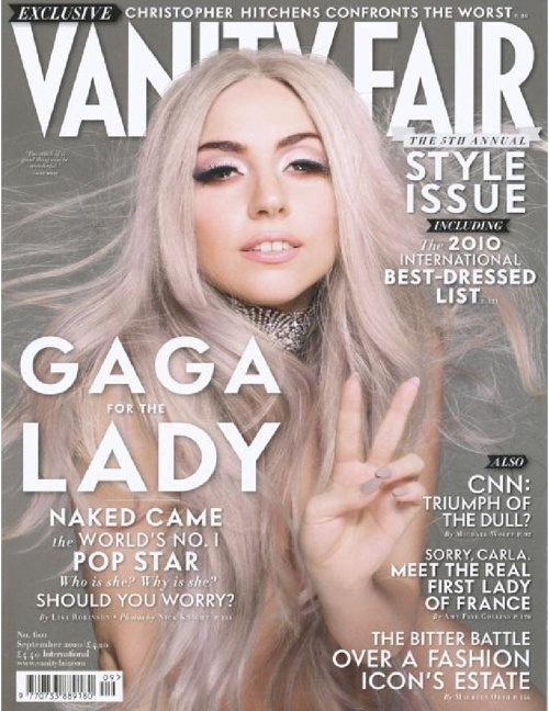 Lady Gaga Covers Vanity Fair 2010