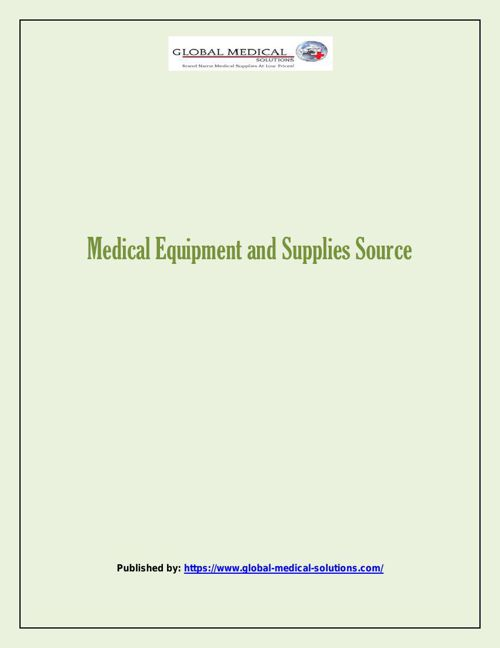 Medical Equipment and Supplies Source