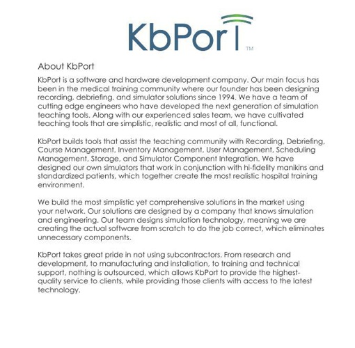 KbPort Simplicity Pages