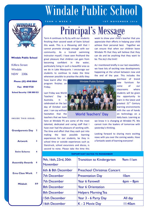 Newsletter Term 4 Week 4
