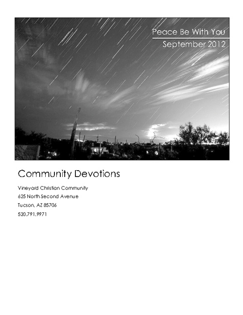 September Community Devotional