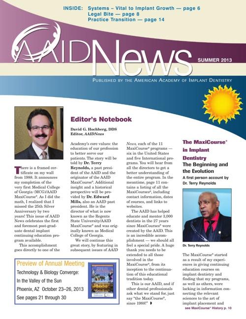 Summer 2013 AAID News