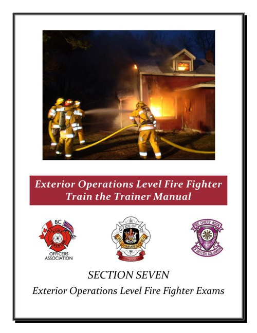 Section 7-Exterior Operations Level Fire Fighter Exams