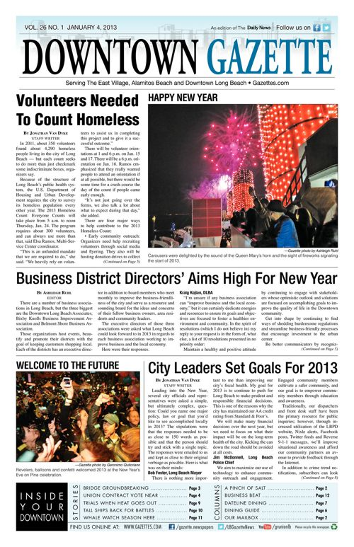 Downtown Gazette  |  January 4, 2013