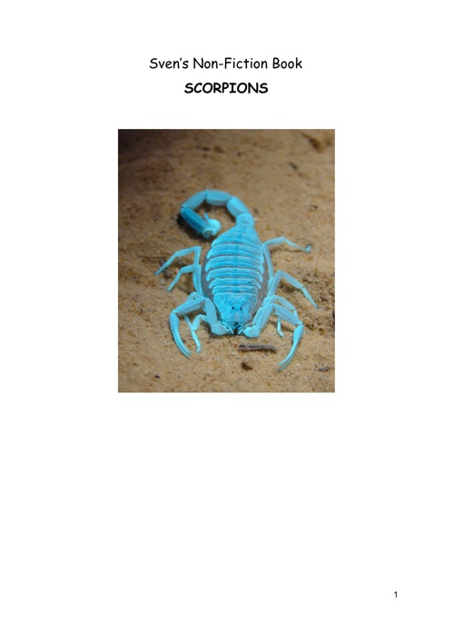All about scorpions