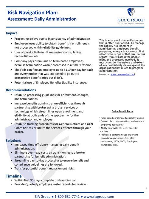Benefits Admin_Risk Sheet