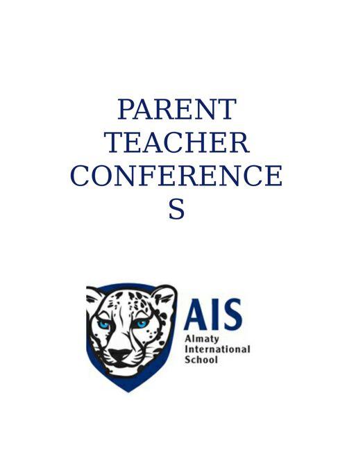 Scenarios for Parent Teacher Conferences