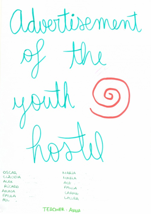Advertisement of the youth hostel