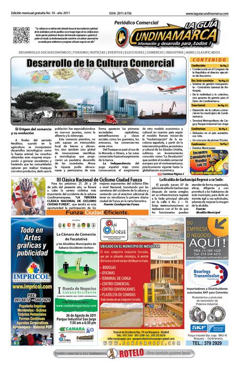 Edicion Impresa No 10 La Guía Cundinamarca