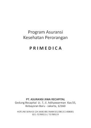 PRIMEDICA buku panduan