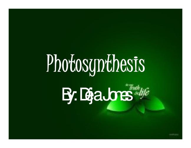 Photosythesis
