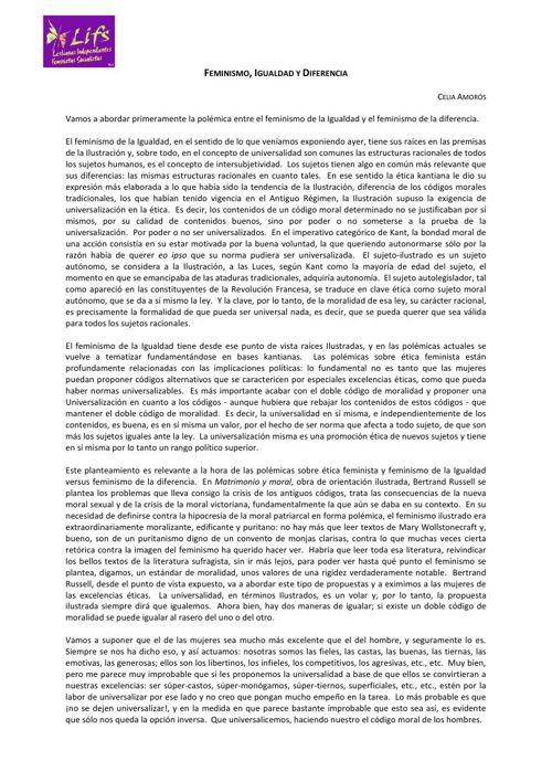 Copy of Celia Amoros-Feminismo Igualdad y Diferencia