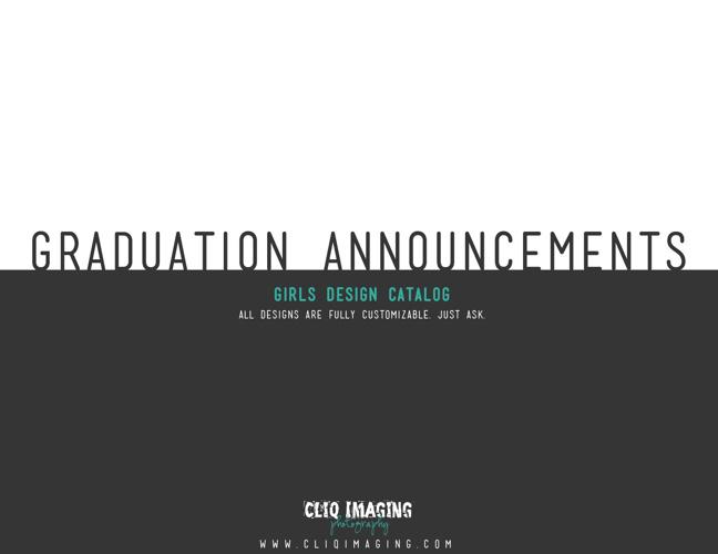 Girls Senior Announcement Catalog | Cliq Imaging Photography