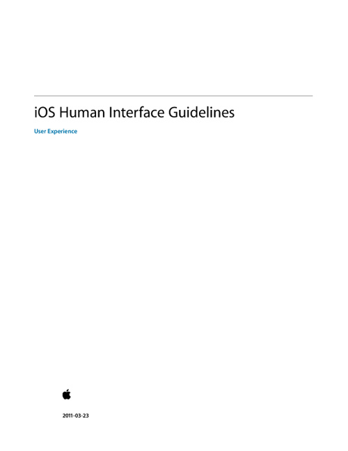 HIG :: iOS Human Interface Guidelines :: 2011 Updated