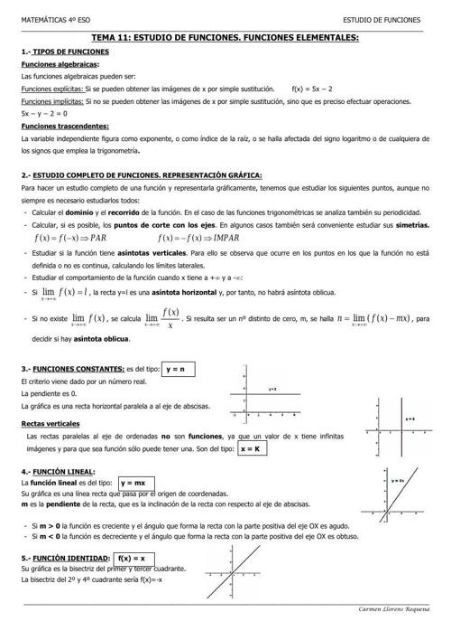 Copy (2) of TEMA 11 - Estudio de funciones, funciones elementale