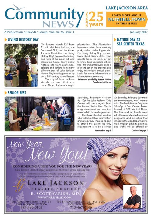 Lake Jackson Community News Volume 25 Issue 1