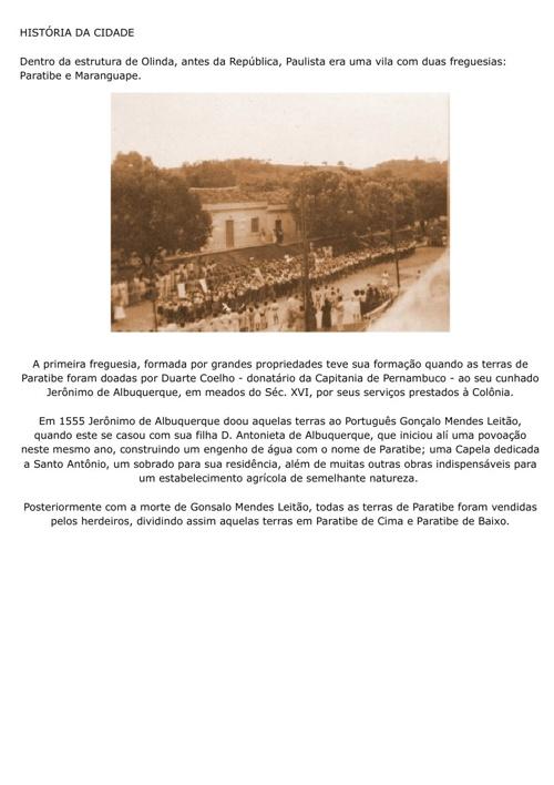 História da Cidade do Paulista.