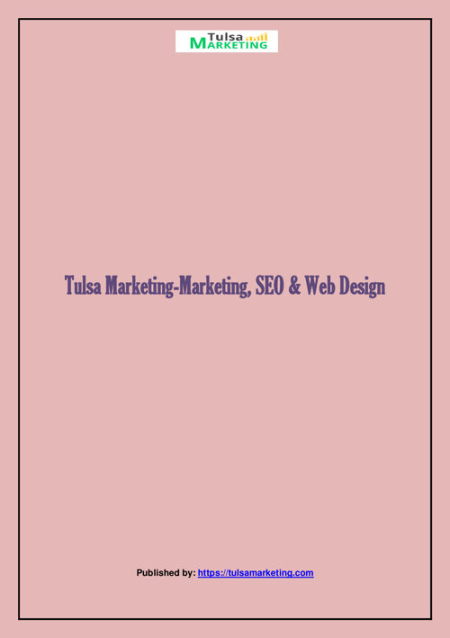 Tulsa Marketing-Marketing, SEO & Web Design