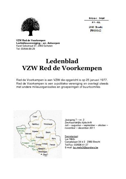 Tiidschrift VZW Red de Voorkempen