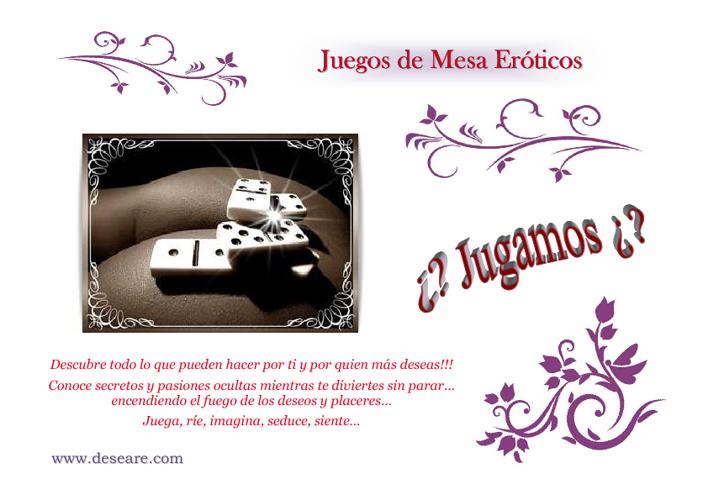 Catálogo de Juegos de Mesa Eróticos DESEARE